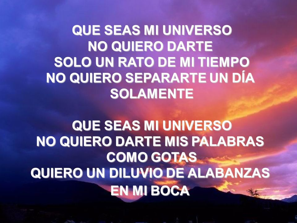 Que Seas Mi Universo (1) QUE SEAS MI UNIVERSO NO QUIERO DARTE