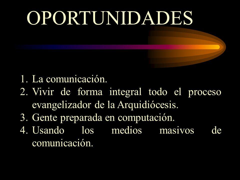 OPORTUNIDADES La comunicación.