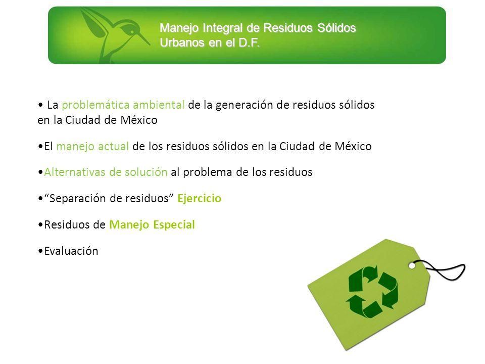 La problemática ambiental de la generación de residuos sólidos en la Ciudad de México