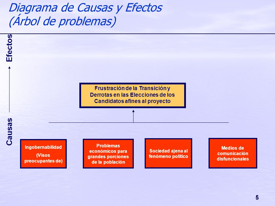 Diagrama de Causas y Efectos (Árbol de problemas)