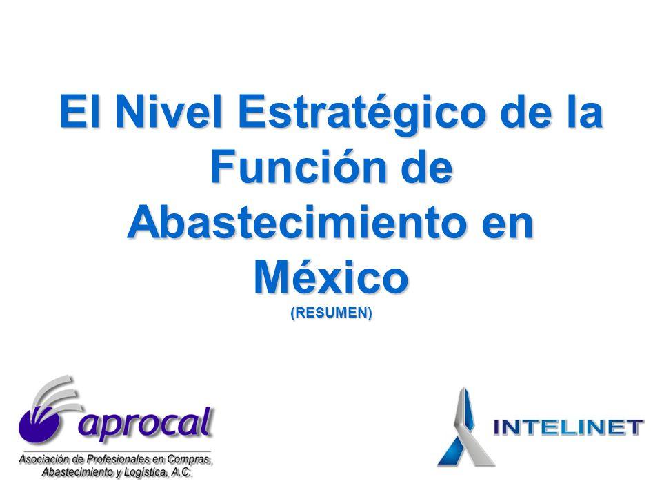 El Nivel Estratégico de la Función de Abastecimiento en México (RESUMEN)