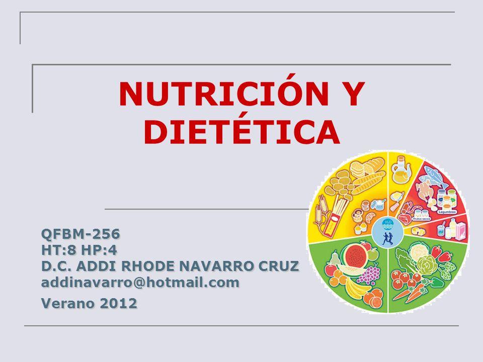 NUTRICIÓN Y DIETÉTICA QFBM-256 HT:8 HP:4 D.C. ADDI RHODE NAVARRO CRUZ