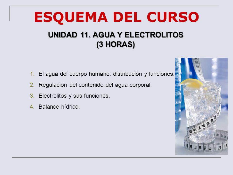 UNIDAD 11. AGUA Y ELECTROLITOS