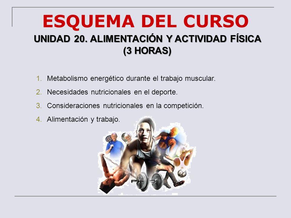 UNIDAD 20. ALIMENTACIÓN Y ACTIVIDAD FÍSICA