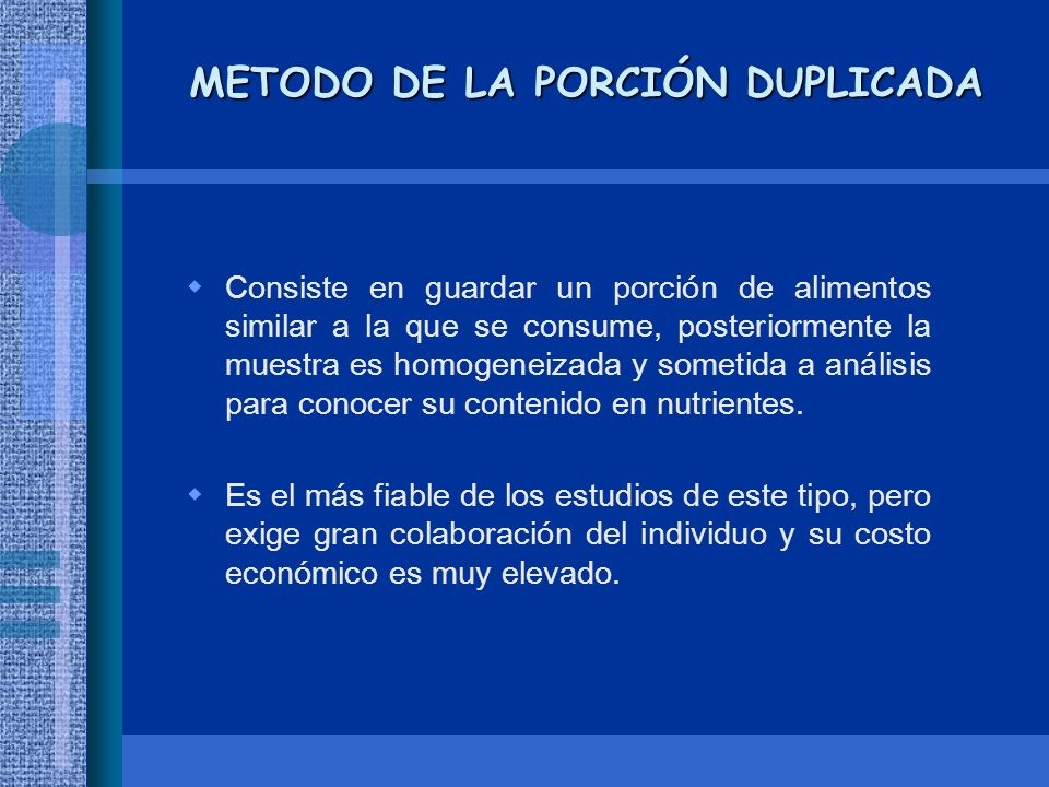 METODO DE LA PORCIÓN DUPLICADA