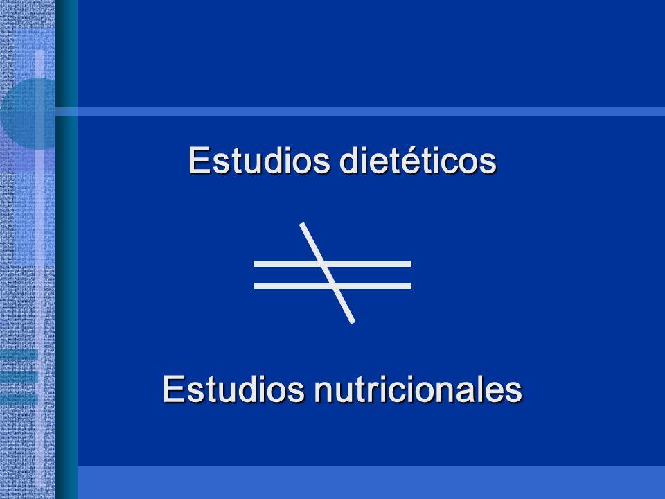 Estudios nutricionales