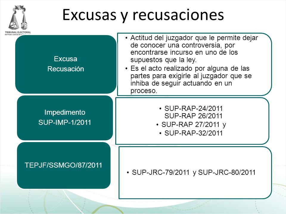 Excusas y recusaciones