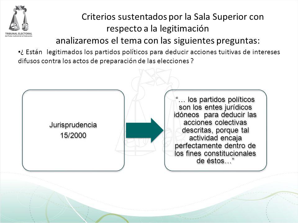 Criterios sustentados por la Sala Superior con respecto a la legitimación analizaremos el tema con las siguientes preguntas: