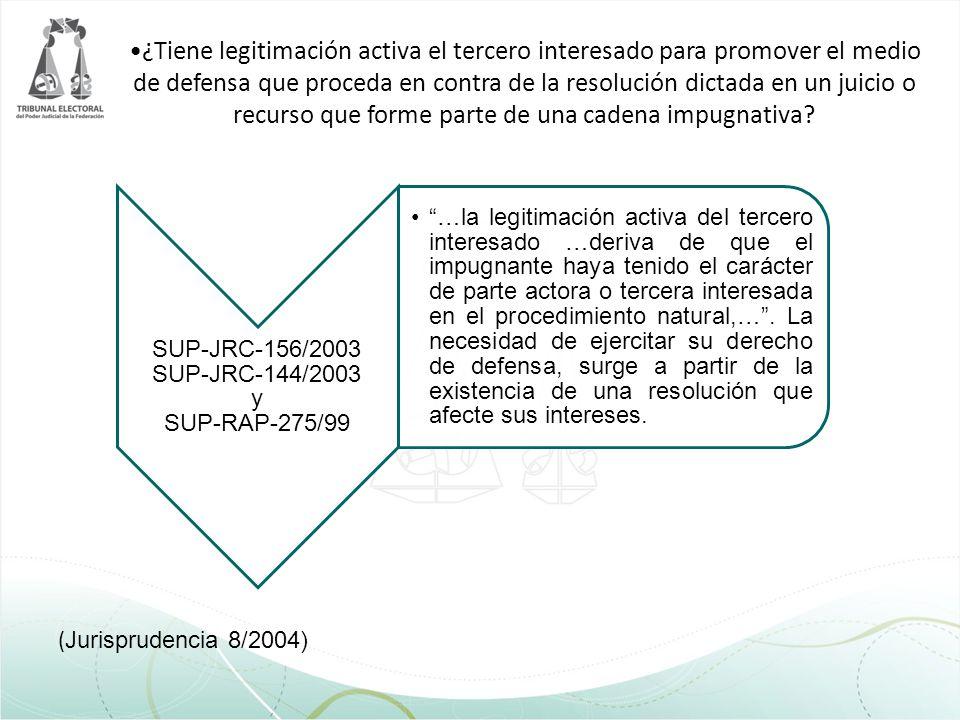 SUP-JRC-156/2003 SUP-JRC-144/2003 y SUP-RAP-275/99
