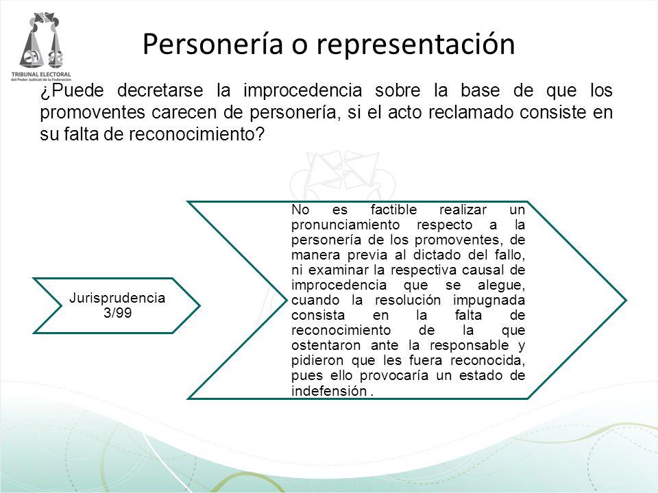 Personería o representación
