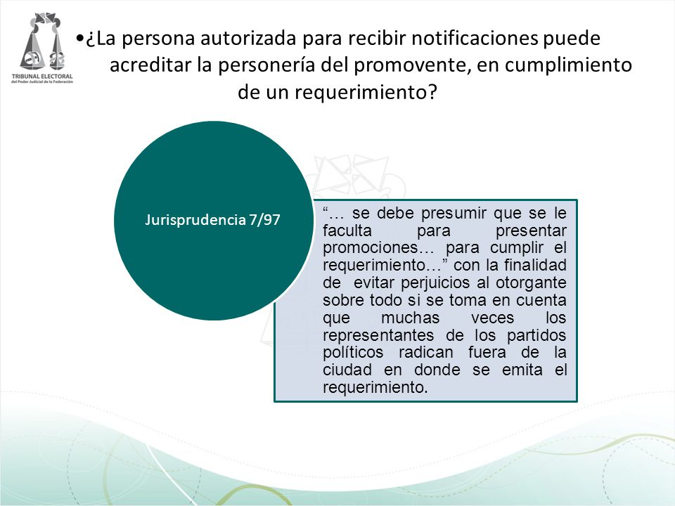 ¿La persona autorizada para recibir notificaciones puede