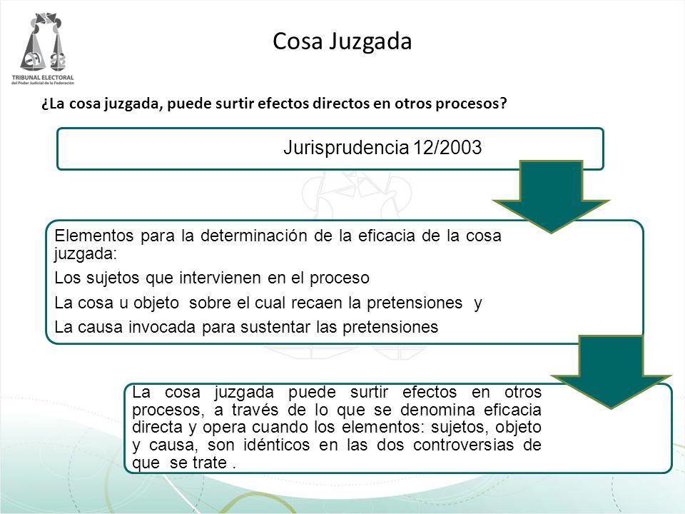 Cosa Juzgada Jurisprudencia 12/2003