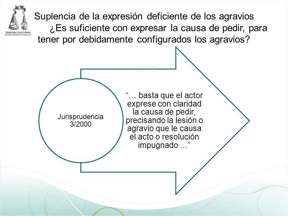 Suplencia de la expresión deficiente de los agravios