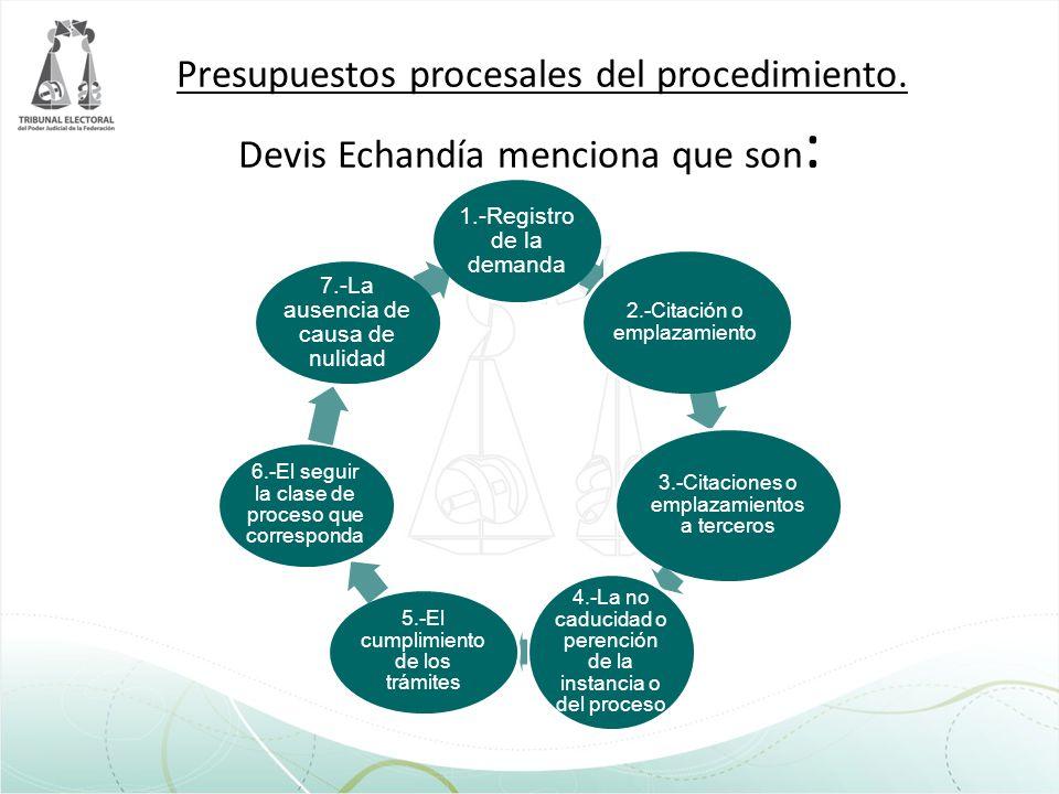 Presupuestos procesales del procedimiento