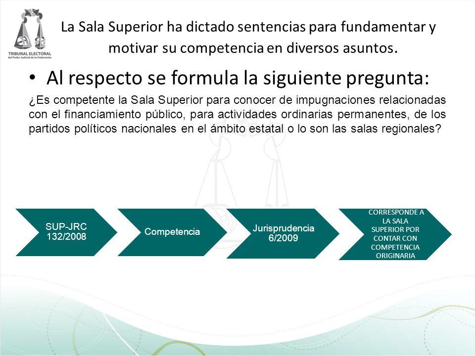 CORRESPONDE A LA SALA SUPERIOR POR CONTAR CON COMPETENCIA ORIGINARIA