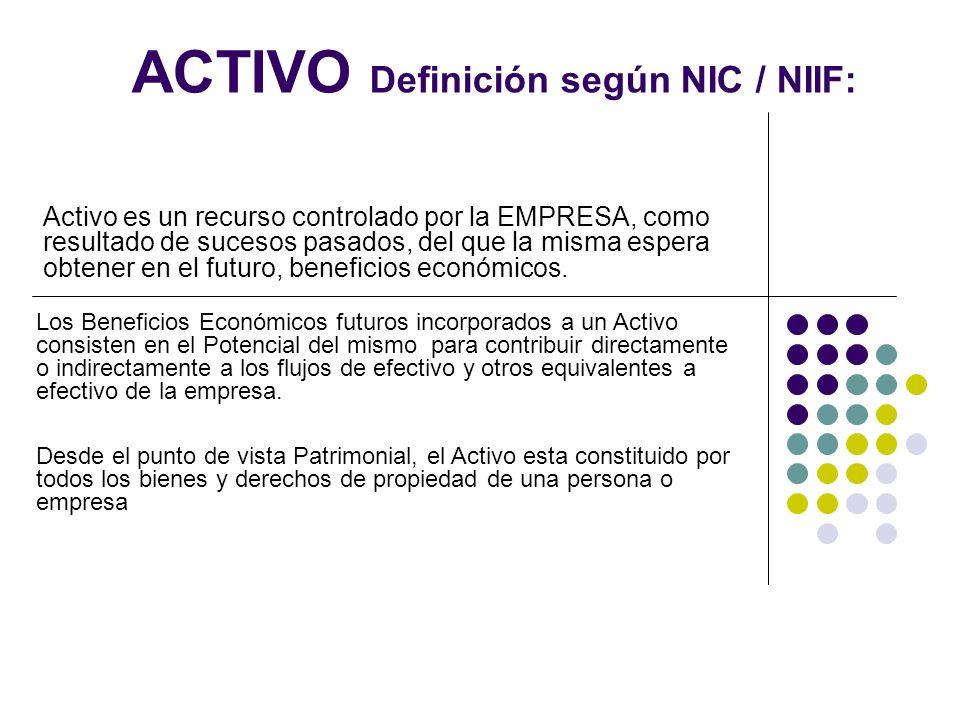 Activo Definición Según Nic Niif
