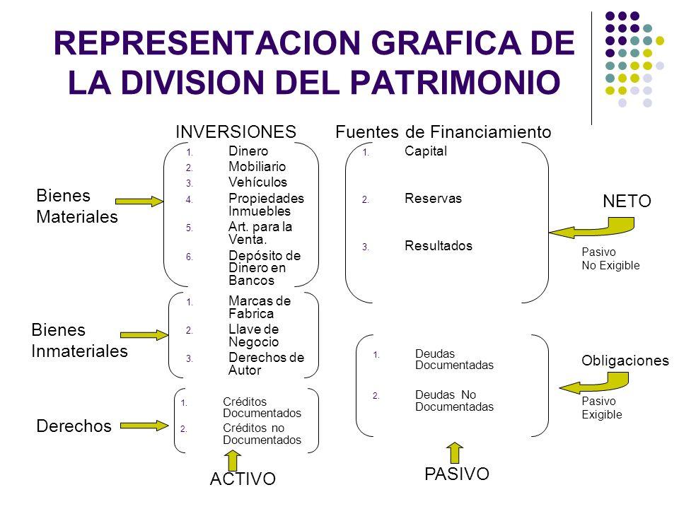 REPRESENTACION GRAFICA DE LA DIVISION DEL PATRIMONIO