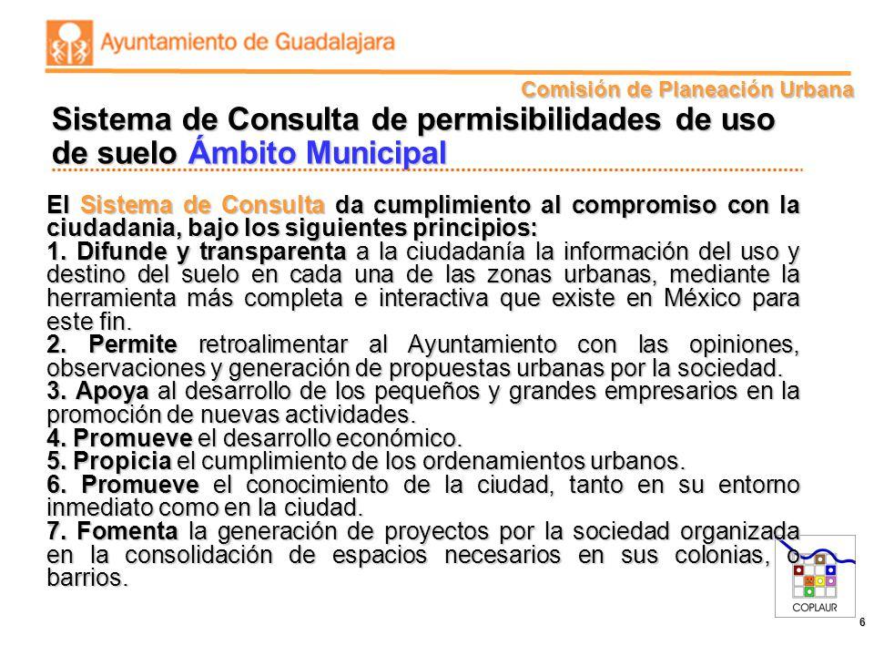 Sistema de Consulta de permisibilidades de uso de suelo Ámbito Municipal