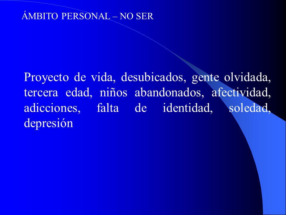 ÁMBITO PERSONAL – NO SER
