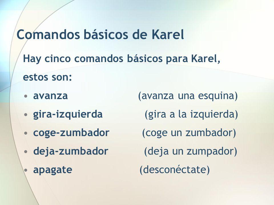 Comandos básicos de Karel
