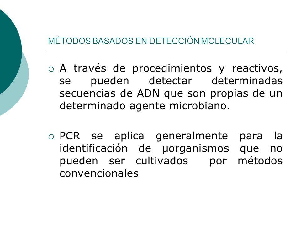 MÉTODOS BASADOS EN DETECCIÓN MOLECULAR