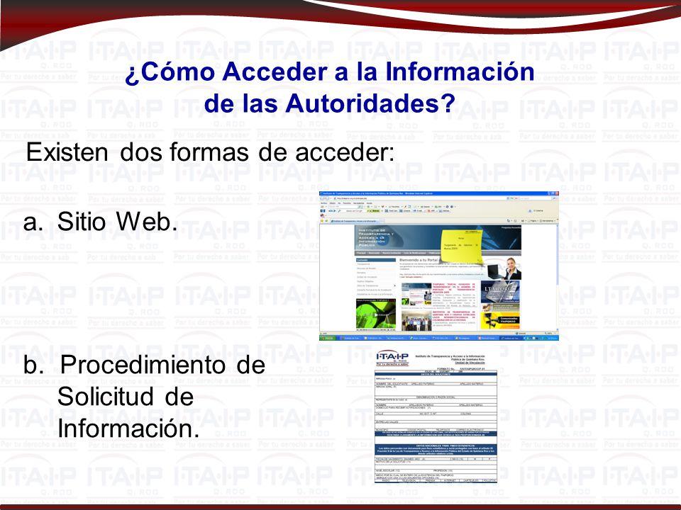 ¿Cómo Acceder a la Información de las Autoridades