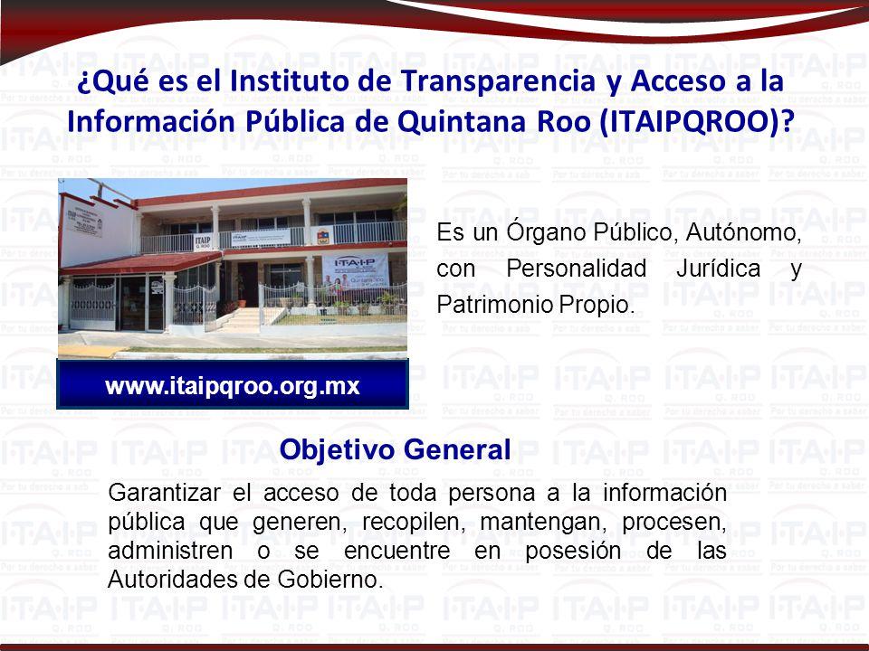 ¿Qué es el Instituto de Transparencia y Acceso a la Información Pública de Quintana Roo (ITAIPQROO)