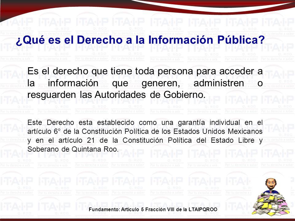 ¿Qué es el Derecho a la Información Pública