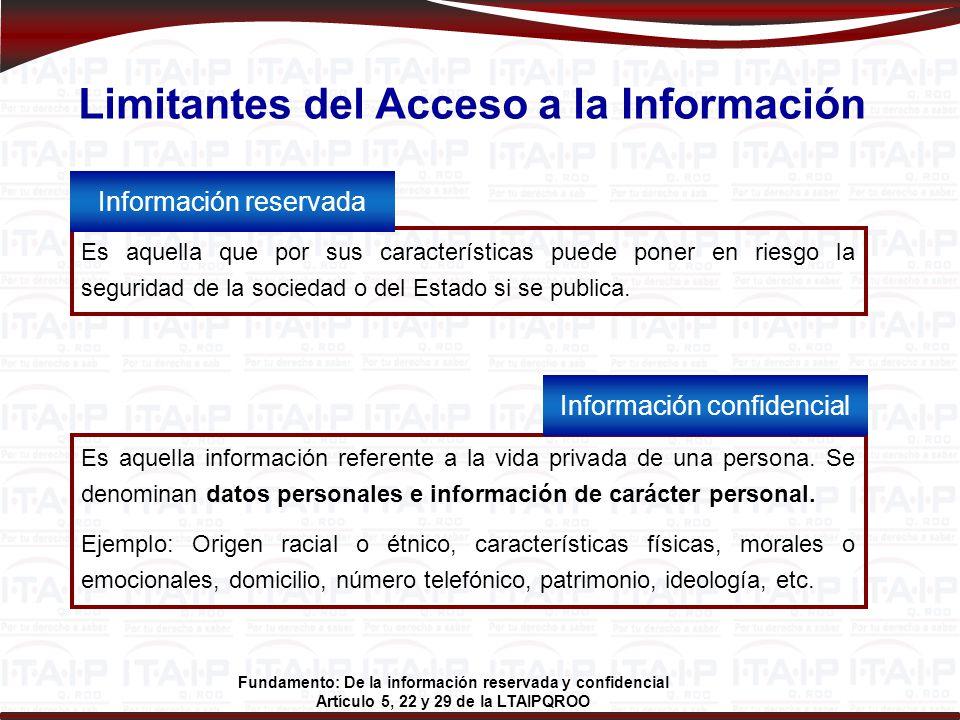 Limitantes del Acceso a la Información