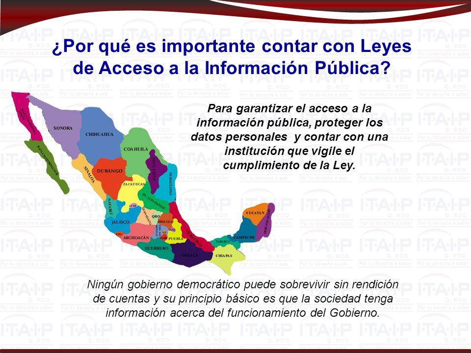 ¿Por qué es importante contar con Leyes de Acceso a la Información Pública