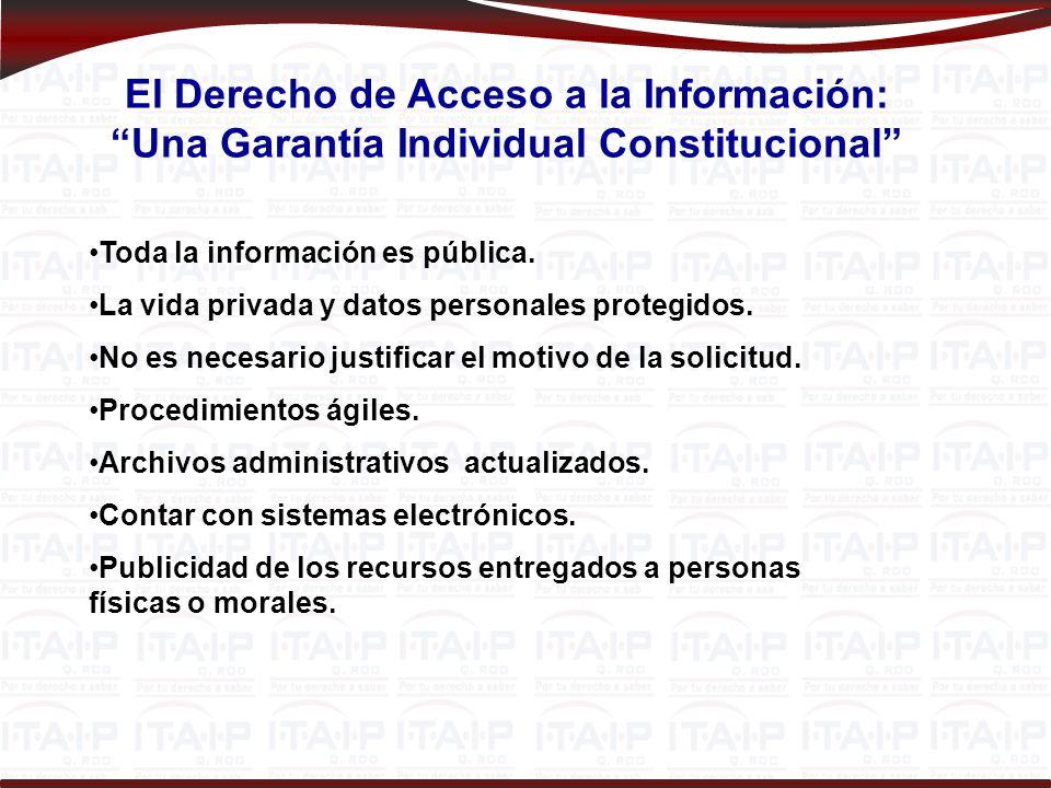El Derecho de Acceso a la Información: Una Garantía Individual Constitucional