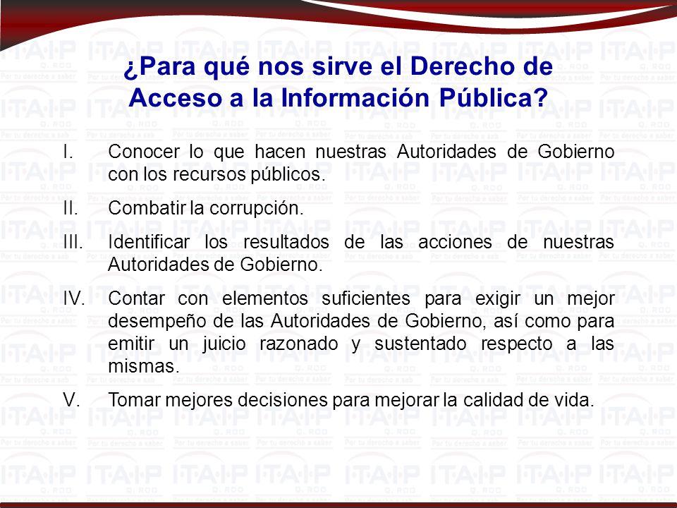 ¿Para qué nos sirve el Derecho de Acceso a la Información Pública