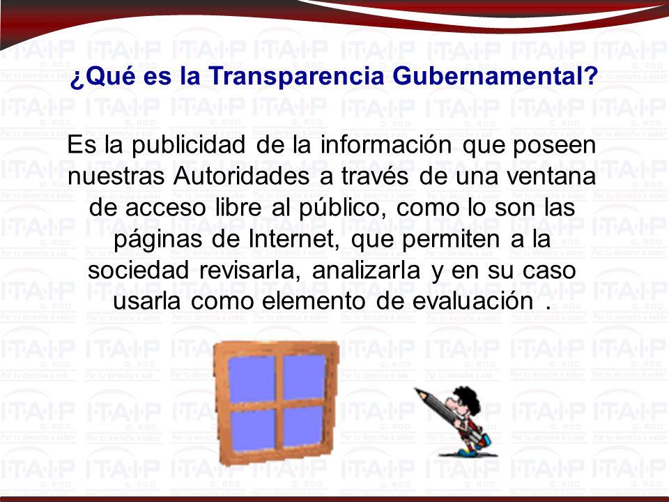 ¿Qué es la Transparencia Gubernamental