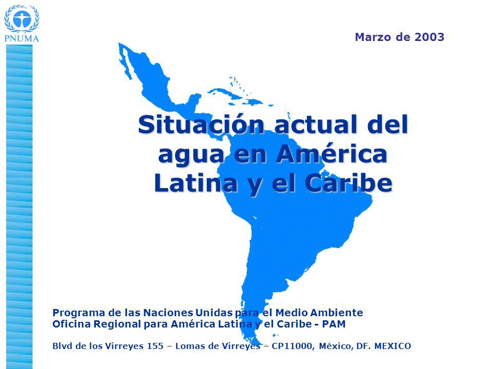 Situación actual del agua en América Latina y el Caribe