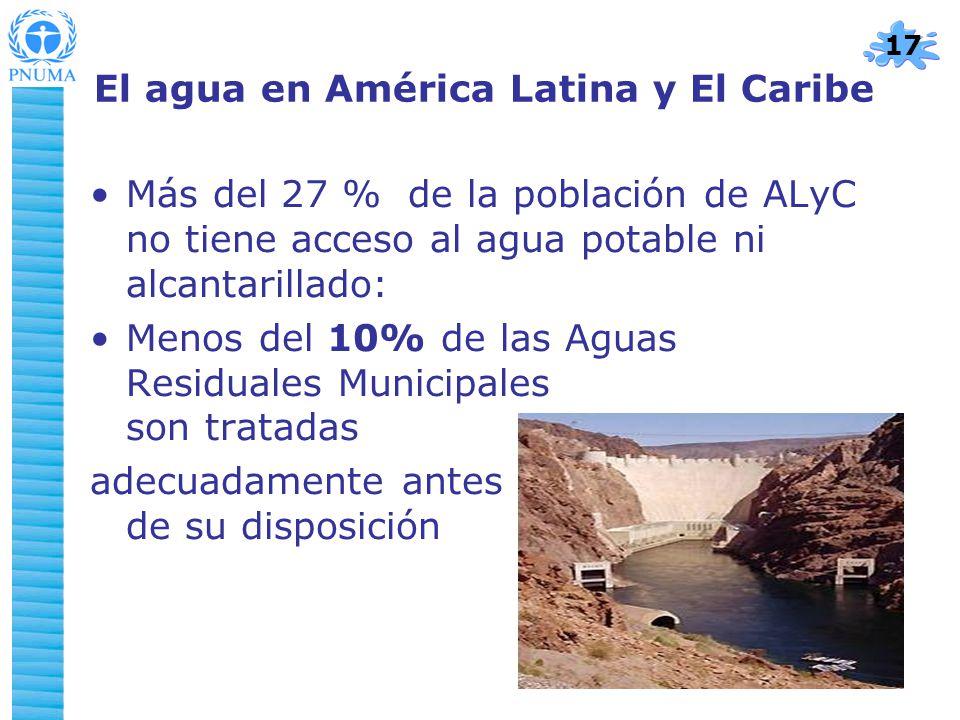 El agua en América Latina y El Caribe