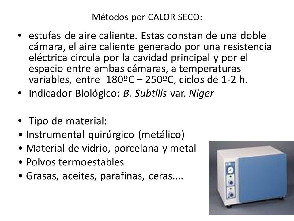 Métodos por CALOR SECO: