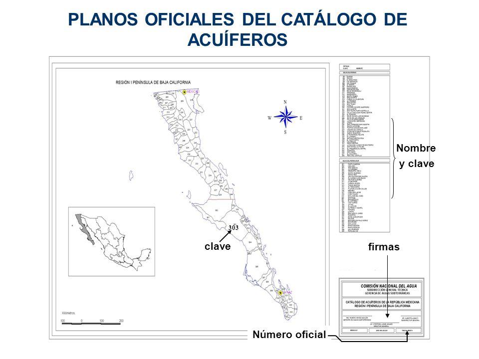 PLANOS OFICIALES DEL CATÁLOGO DE ACUÍFEROS