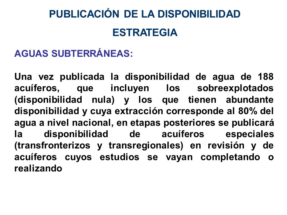 PUBLICACIÓN DE LA DISPONIBILIDAD