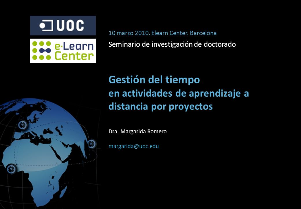 10 marzo 2010. Elearn Center. Barcelona