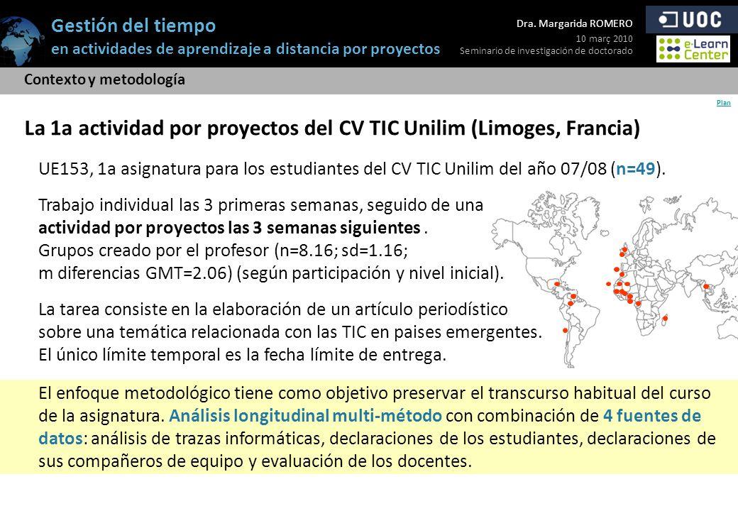 La 1a actividad por proyectos del CV TIC Unilim (Limoges, Francia)