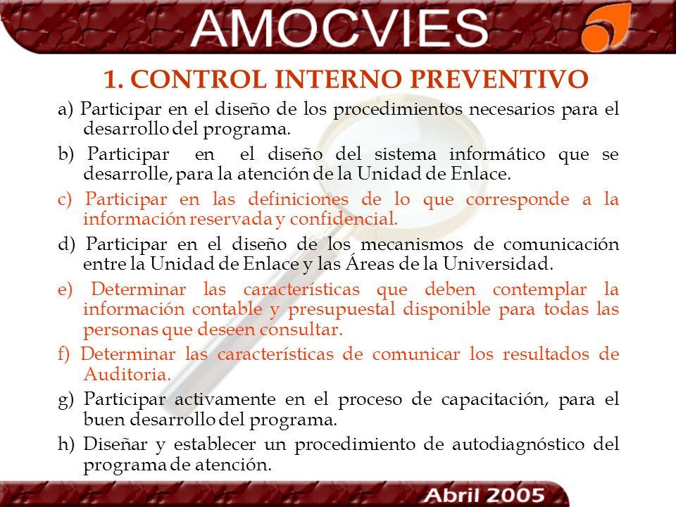 1. CONTROL INTERNO PREVENTIVO