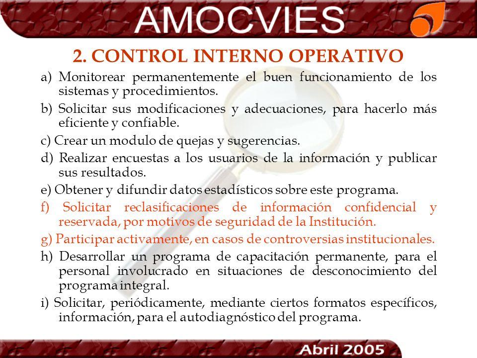 2. CONTROL INTERNO OPERATIVO