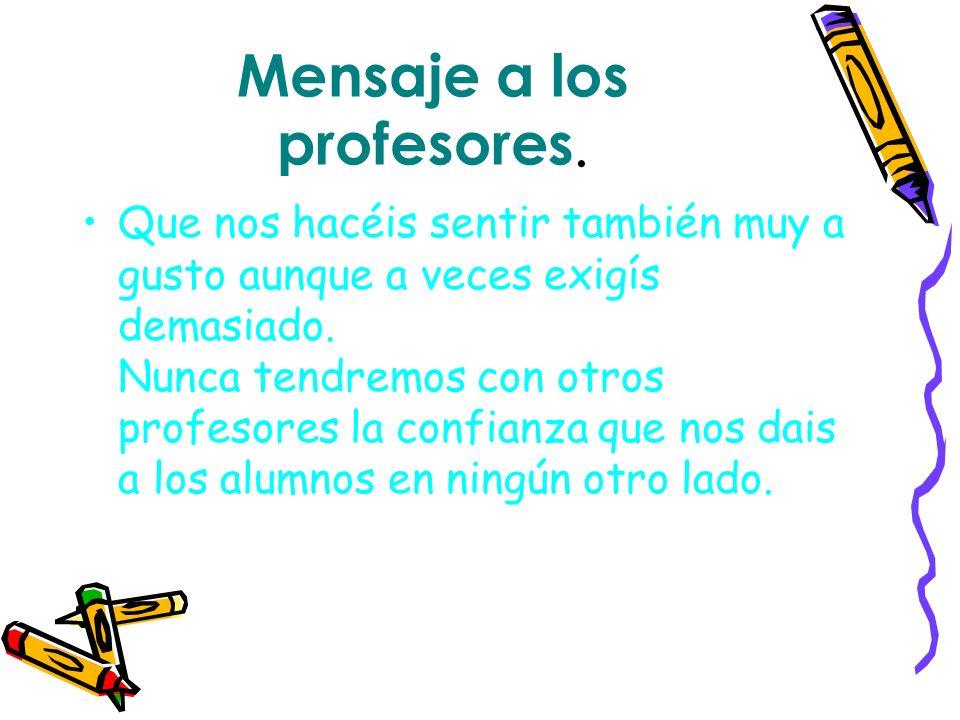 Mensaje a los profesores.