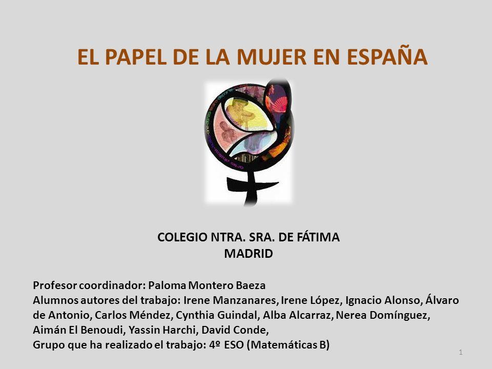 EL PAPEL DE LA MUJER EN ESPAÑA