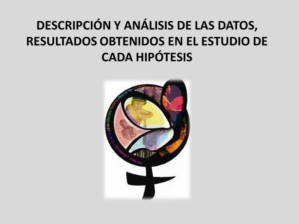 descripción y análisis de las datos, resultados obtenidos EN EL ESTUDIO DE CADA HIPÓTESIS