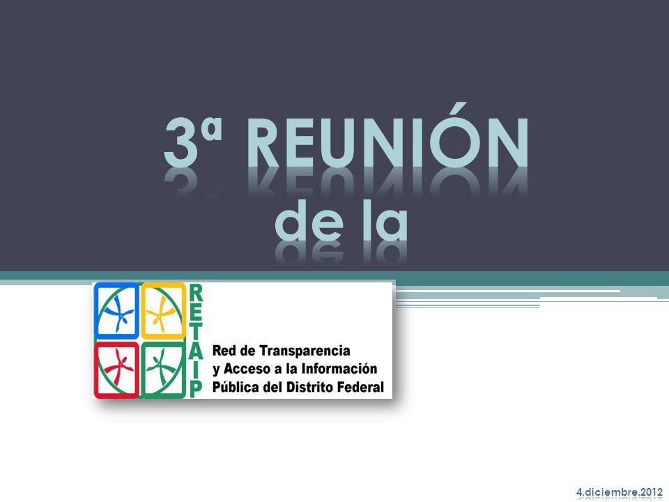 3ª REUNIÓN de la 4.diciembre.2012