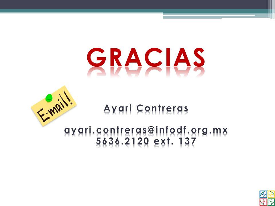 GRACIAS Ayari Contreras ayari.contreras@infodf.org.mx