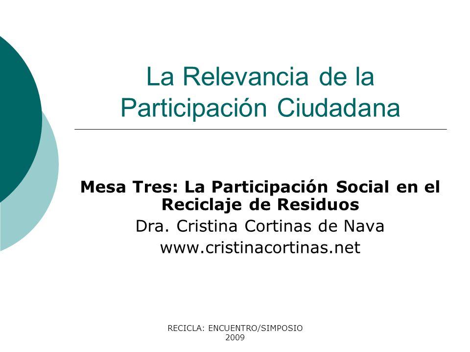 La Relevancia de la Participación Ciudadana