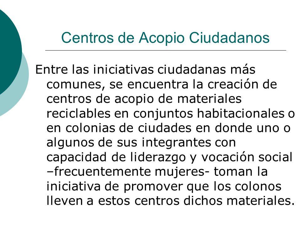 Centros de Acopio Ciudadanos