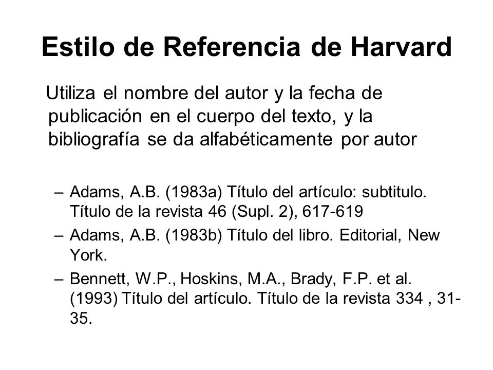 Estilo de Referencia de Harvard